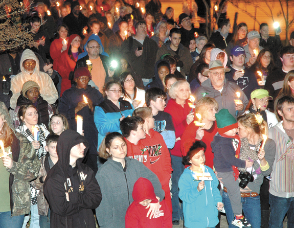 <i>Local residents share the grief of a small town in mourning</i>