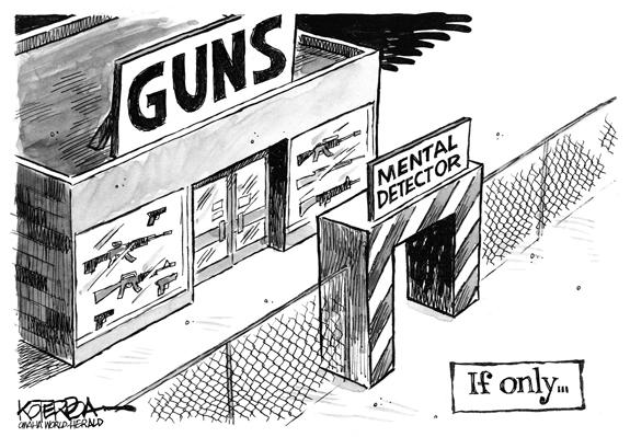 Editorial Cartoon: Mental Detector