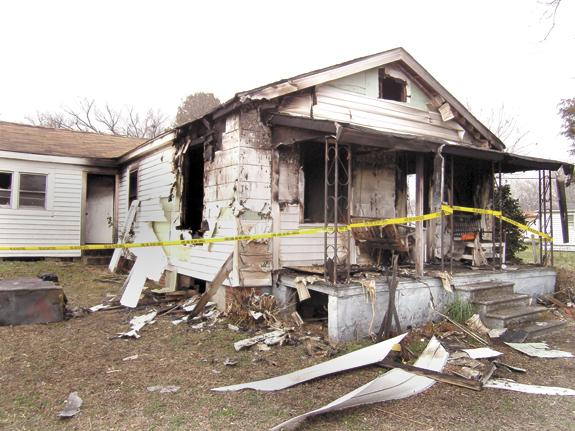 LOUISBURG HOME DAMAGED