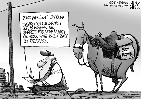 Editorial Cartoon: Pony Express