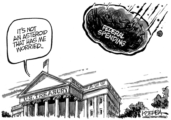 Editorial Cartoon: Spending Worries