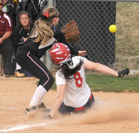 LC softballers settle for split