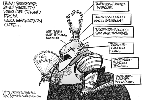Editorial Cartoon: Sequestration Cuts
