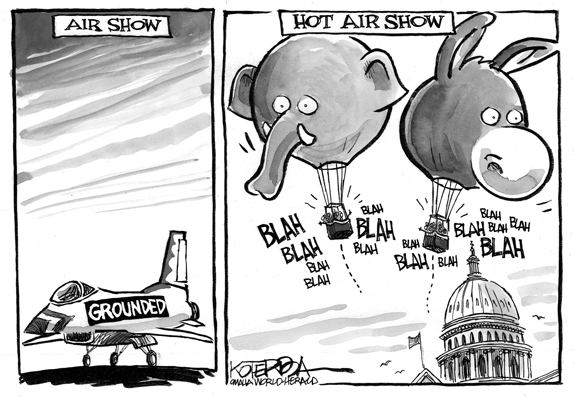 Editorial Cartoon: Hot Air Show