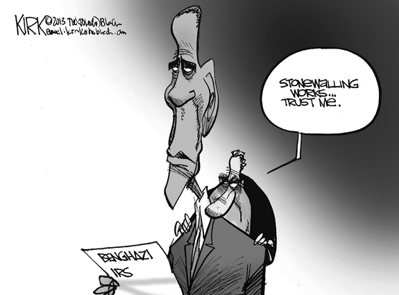 Editorial Cartoon: Stonewalling