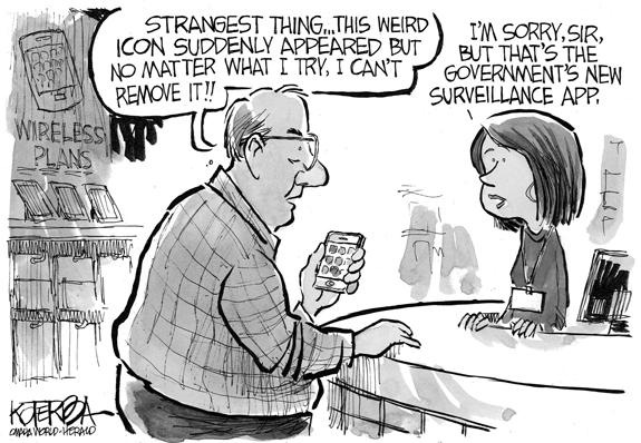 Editorial Cartoon: New App