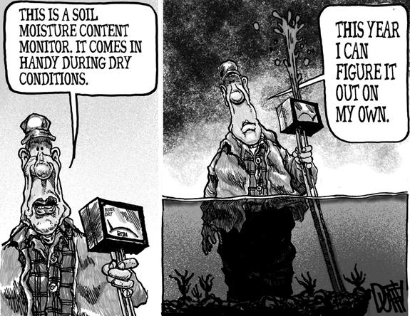 Editorial Cartoon: Wet