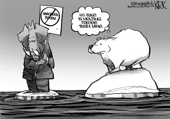 Editorial Cartoon: Melting
