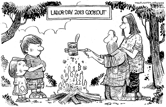 Editorial Cartoon: Labor Day Cookout