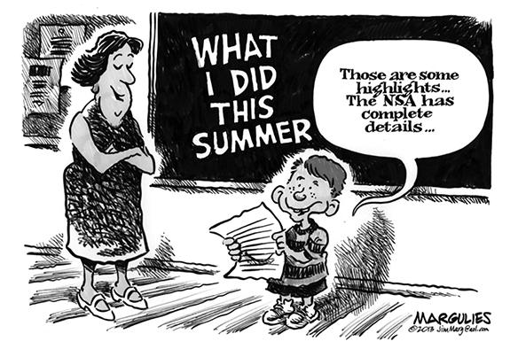 Editorial Cartoon: My Summer Vacation
