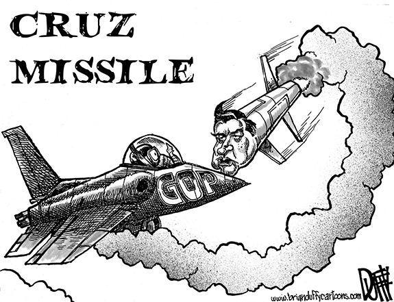 Editorial Cartoon: Cruz Missile