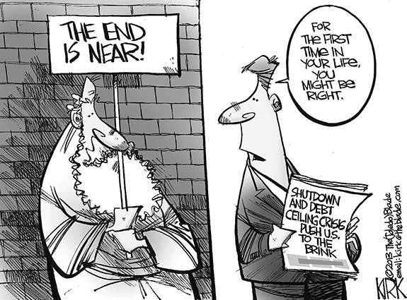 Editorial Cartoon: The End Is Near!