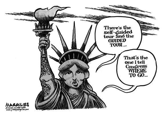 Editorial Cartoon: Lady Liberty