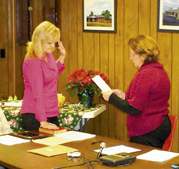 <i>Bunn official takes oath</i>