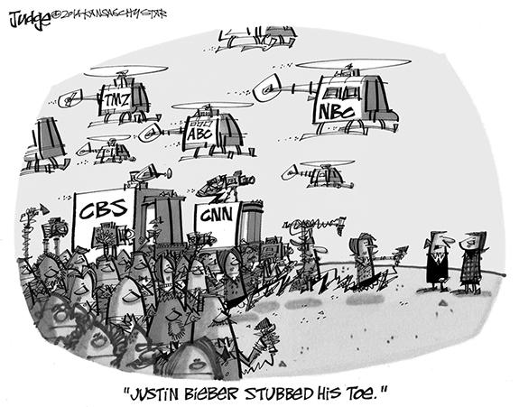 Editorial Cartoon: Bieber