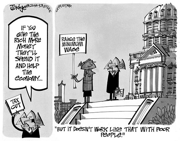Editorial Cartoon: Helping the Poor