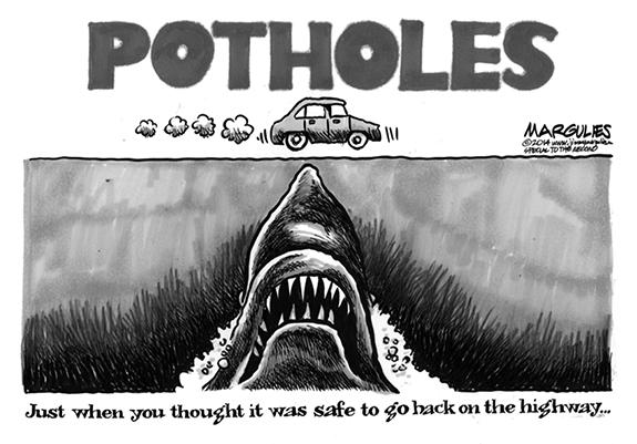 Editorial Cartoon: Potholes