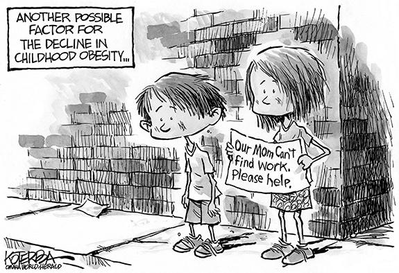 Editorial Cartoon: Economic Hunger