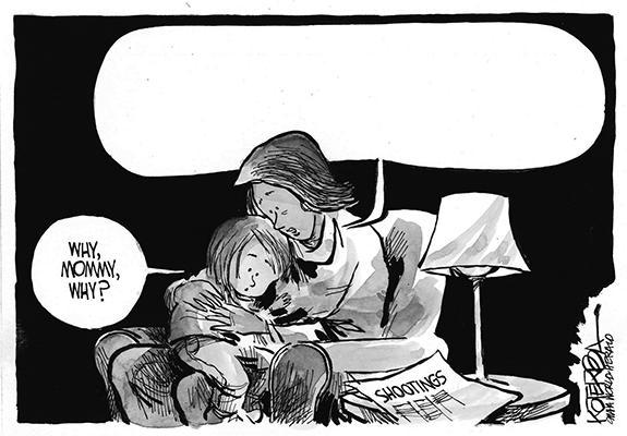 Editorial Cartoon: Shootings