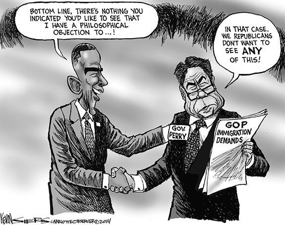 Editorial Cartoon: Immigration Demands