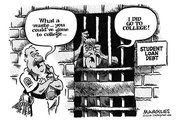 Editorial Cartoon: College Debt