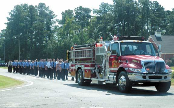 Bidding farewell to a young fireman who cared