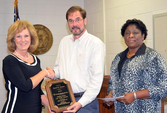 Veteran BES principal honored as year's best