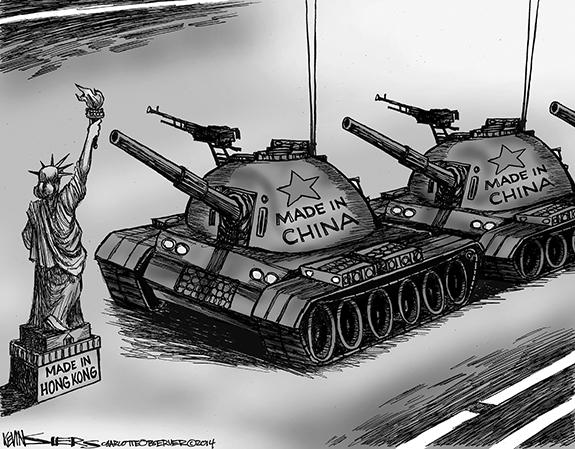 Editorial Cartoon: Hong Kong