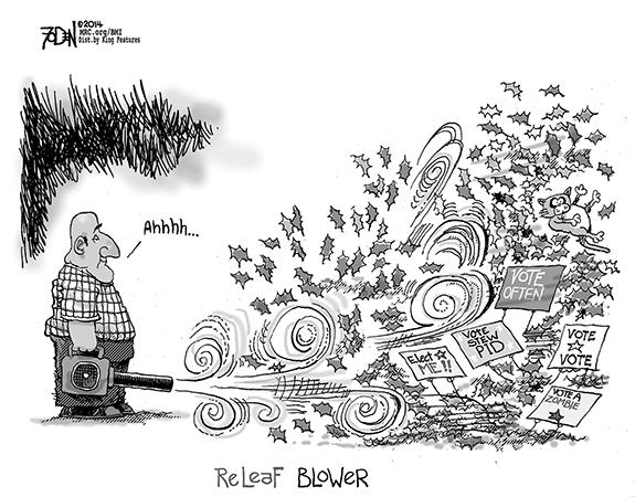 Editorial Cartoon: Releaf Blower