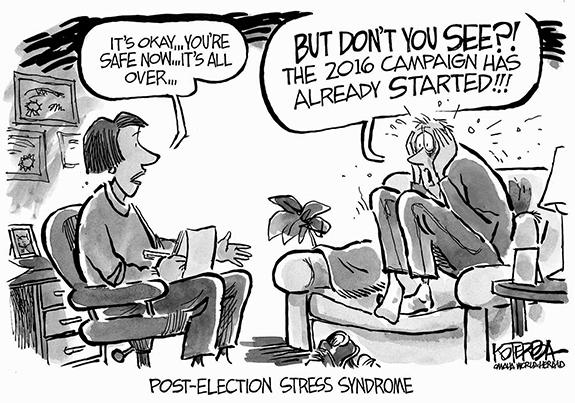 Editorial Cartoon: Election Stress