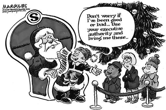 Editorial Cartoon: Santa Request