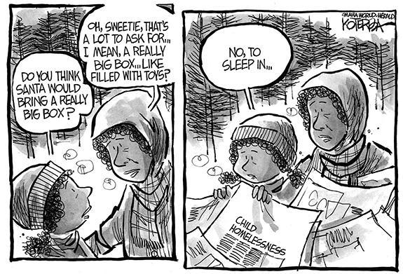 Editorial Cartoon: Homeless