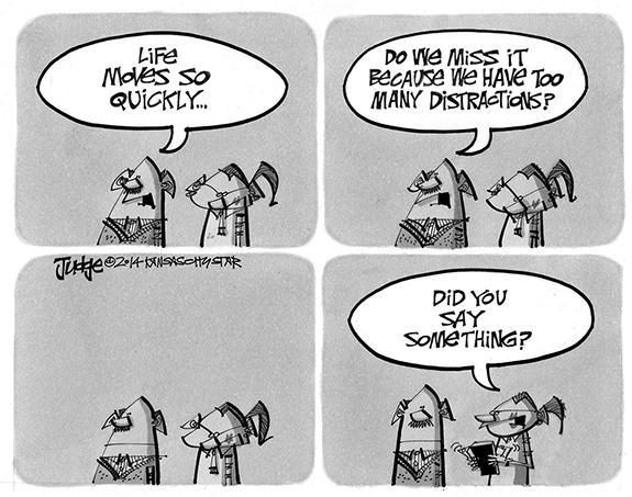 Editorial Cartoon: Distractions