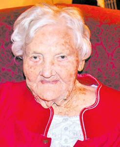 <i>Local lady is 104!</i>