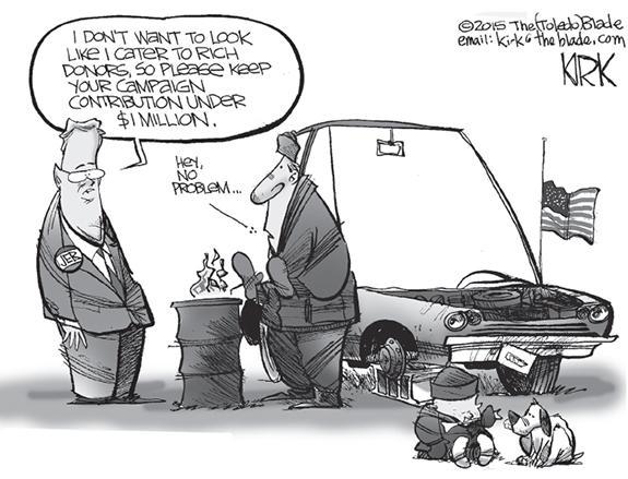 Editorial Cartoon: Contribution