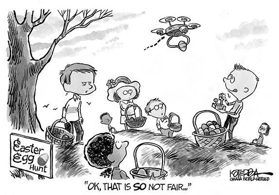 Editorial Cartoon: Drone Egg