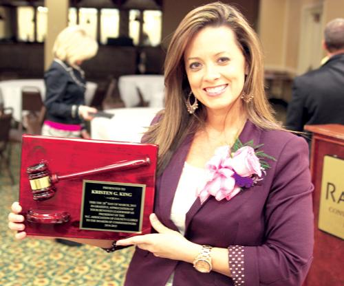 Franklin clerk wraps up year at helm of state group