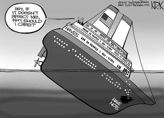 Editorial Cartoon: The Haves