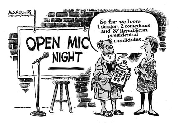Editorial Cartoon: Open Mic