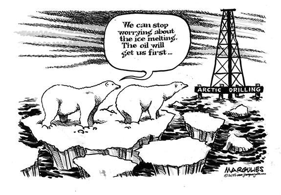 Editorial Cartoon: Polar Bear