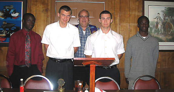 LHS Wrestlers Honored By Lions