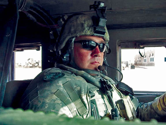 Bunn soldier in 1132nd comes home