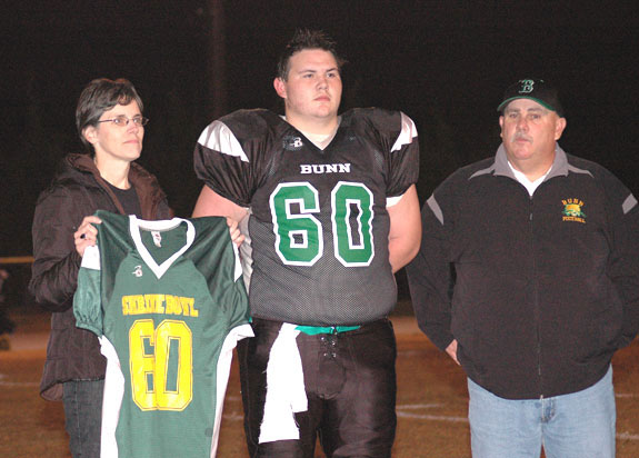 BHS Star Receives Shrine Jersey