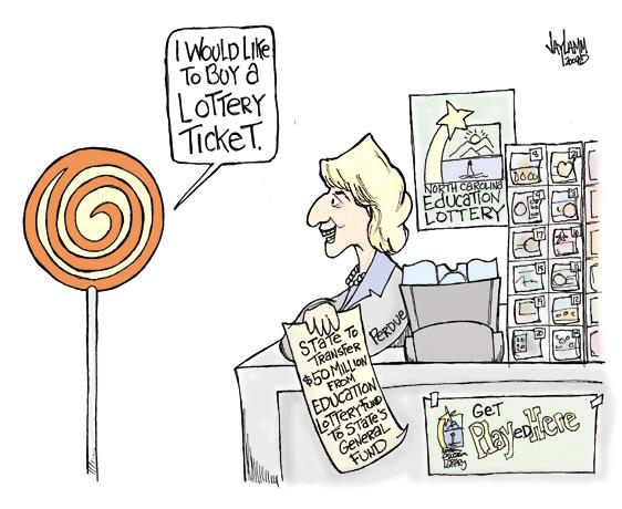 Editorial Cartoon: Mrs. Scratch-Off
