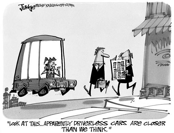 Editorial Cartoon: Driverless
