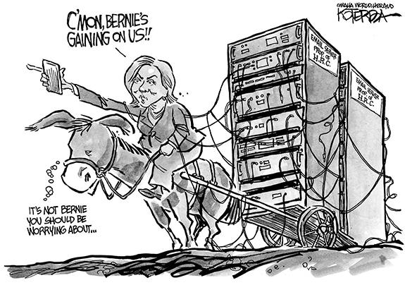 Editorial Cartoon: Hillary Burden