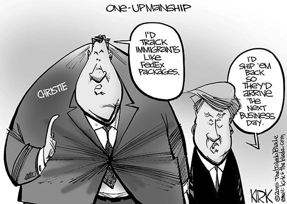Editorial Cartoon: Christie & Trump