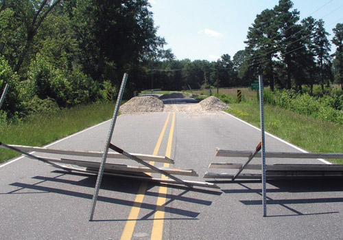 Closed: Road repair could take a year