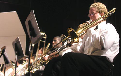 Louisburg High, Terrell Lane bands rock the community