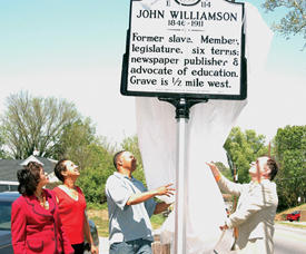 Historical marker serves as reminder of shining legacy